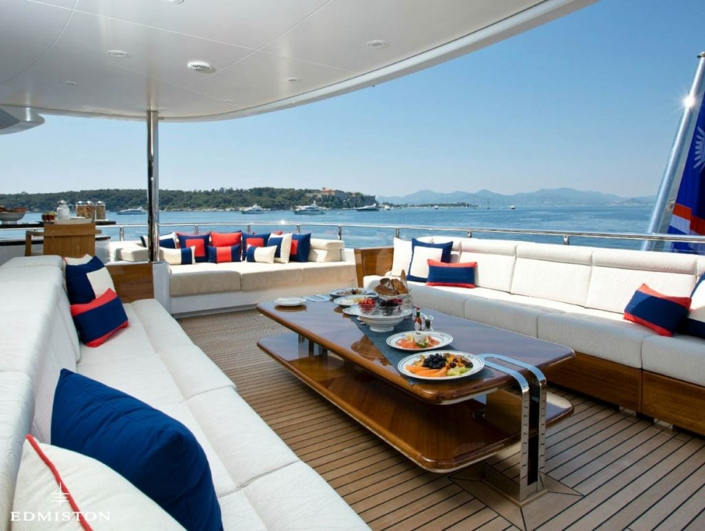 Excellence V luxury yacht by Riva including Beach Club - PerfectYachtCharter.com