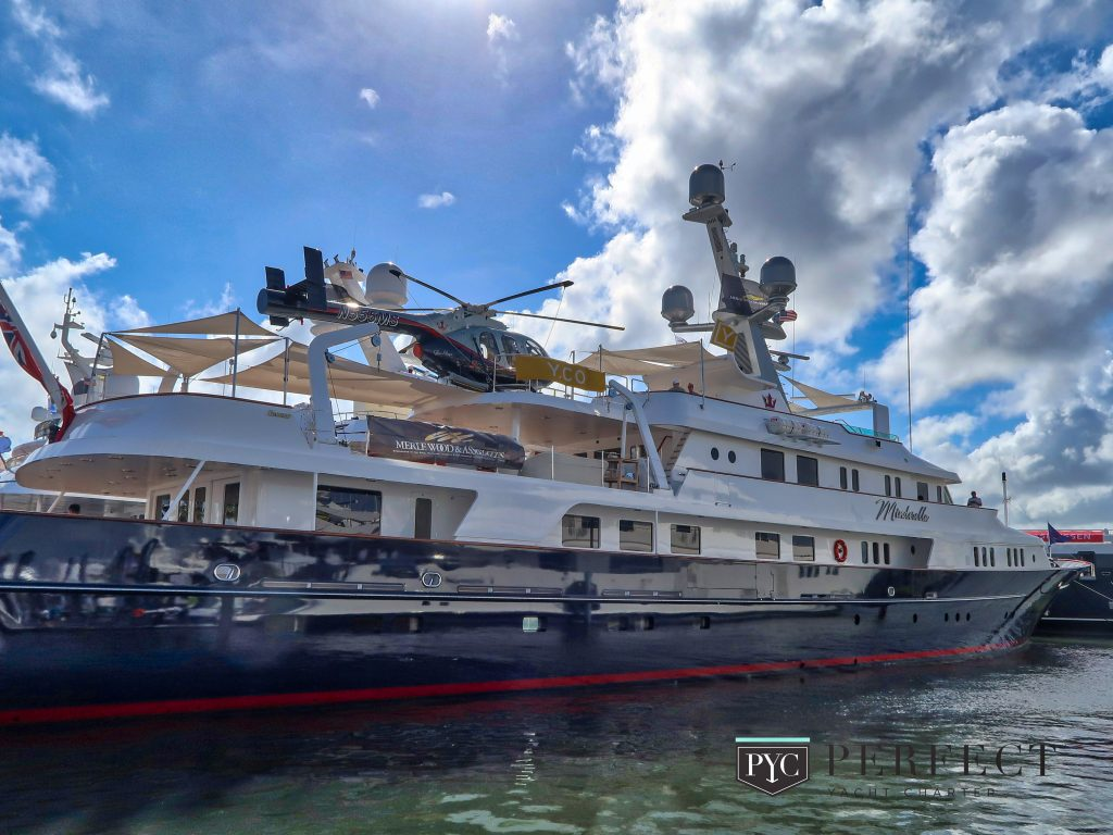 Superyacht at Fort Lauderdale Boat Show - PerfectYachtCharter.com