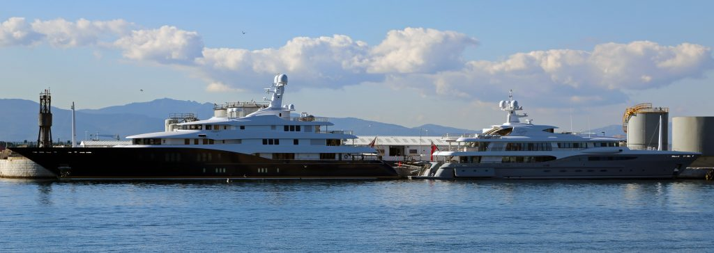 Superyachts My_Endeavour_&_MY_Imagine_at_North_Mole,_Port_of_Gibraltar
